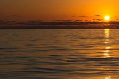 Puesta del sol. Fotografía de archivo