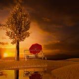 Puesta del sol. libre illustration