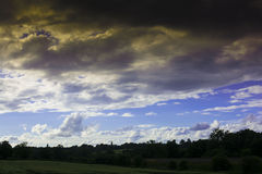 Puesta del sol Foto de archivo libre de regalías