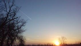 Puesta del sol Imagen de archivo libre de regalías