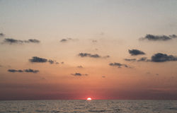 Puesta del sol Fotos de archivo libres de regalías