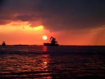 Puesta del sol Fotografía de archivo libre de regalías