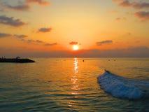 Puesta del sol Imagen de archivo