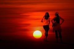 Puesta del sol abstracta fotos de archivo