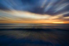 Puesta del sol abstracta Imágenes de archivo libres de regalías