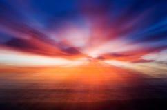 Puesta del sol abstracta