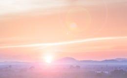 Puesta del sol abstracta de la falta de definición Foto de archivo libre de regalías