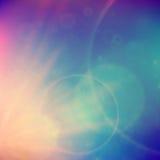 Puesta del sol abstracta en el cielo con la llamarada de las lentes Imágenes de archivo libres de regalías