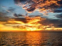 Puesta del sol activa Foto de archivo libre de regalías