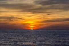 Puesta del sol admirable Fotos de archivo