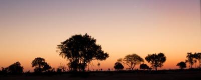 Puesta del sol africana Imagen de archivo libre de regalías