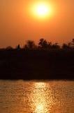 Puesta del sol africana en matusadona Fotos de archivo