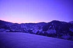 Puesta del sol alpestre imagen de archivo libre de regalías