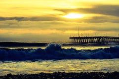 Puesta del sol amarilla Fotografía de archivo libre de regalías