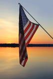 Puesta del sol americana Foto de archivo libre de regalías