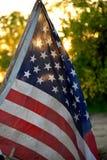 Puesta del sol americana Fotografía de archivo libre de regalías