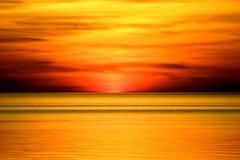 Puesta del sol anaranjada Foto de archivo libre de regalías