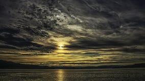 Puesta del sol antes de la tormenta Imagen de archivo