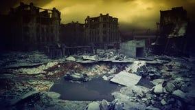 Puesta del sol apocalíptica 3d Fotografía de archivo
