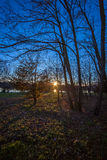 Puesta del sol apta Fotografía de archivo