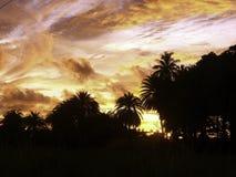 Puesta del sol ardiente Imágenes de archivo libres de regalías