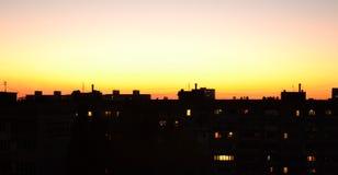 Puesta del sol ardiente 2 Imagen de archivo libre de regalías