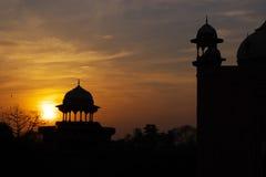 Puesta del sol arquitectónica Imágenes de archivo libres de regalías