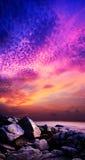 Puesta del sol asombrosa Imágenes de archivo libres de regalías