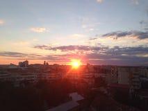 Puesta del sol asombrosa Imagen de archivo libre de regalías
