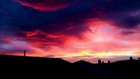 Puesta del sol asombrosa Cloudscape