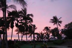 Puesta del sol asombrosa en Hawaii fotos de archivo libres de regalías