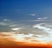 Puesta del sol asombrosamente hermosa. Fotos de archivo libres de regalías