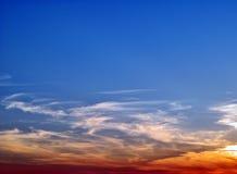 Puesta del sol asombrosamente hermosa. fotos de archivo