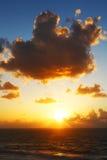 Puesta del sol atlántica fotografía de archivo libre de regalías