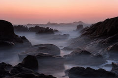Puesta del sol atlántica Fotos de archivo libres de regalías