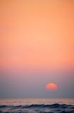 Puesta del sol atlántica Foto de archivo libre de regalías