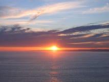 Puesta del sol atractiva en Philip Island Fotografía de archivo