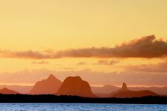 Puesta del sol australiana Imagen de archivo