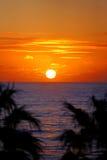 Puesta del sol australiana Imagen de archivo libre de regalías
