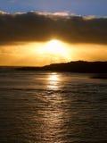 Puesta del sol australiana de la costa costa Fotos de archivo