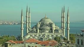 Puesta del sol azul de Estambul de la mezquita Imagen de archivo