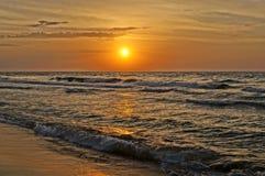Puesta del sol báltica Imagen de archivo