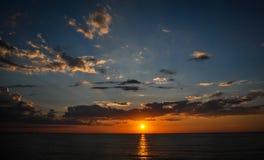 Puesta del sol báltica Imágenes de archivo libres de regalías