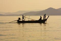 Puesta del sol, bahía de Phang Nga foto de archivo libre de regalías