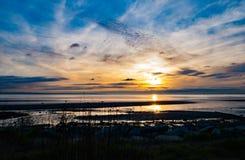 puesta del sol beach_2 fotografía de archivo