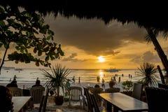 Puesta del sol Boracay Filipinas Fotografía de archivo