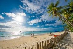 Puesta del sol Boracay Filipinas Fotos de archivo