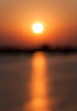 Puesta del sol borrosa Fotos de archivo