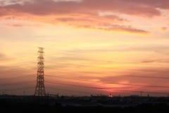 Puesta del sol borrosa Imagen de archivo libre de regalías
