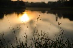 Puesta del sol borrosa del fondo Imágenes de archivo libres de regalías